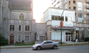 A complex built on St Andrew's Wesley United on Nelson St. See my Thunderbird Story for more details